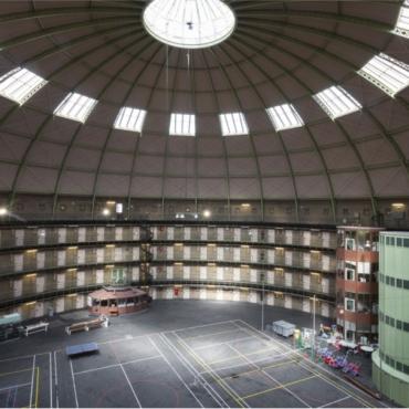 Panopticon Prison Haarlem in 2016 (Photo by Rijksvastgoedbedrijf)